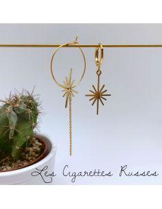 Boucles asymétriques étoilée plaqué or