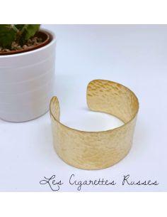 Bracelet manchette laiton martelé