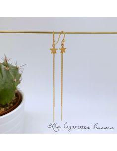 Boucles d'oreille dorées Etoile plaqué or